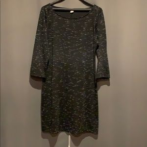 Old Navy  3/4 Sleeve Dress100% Cotton Black/White